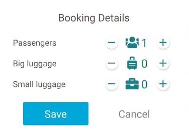 passengers and luggage